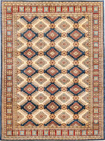 "Hand Made Pakistan Mamluk 6'10"" x 9'2"" Tan Rug"