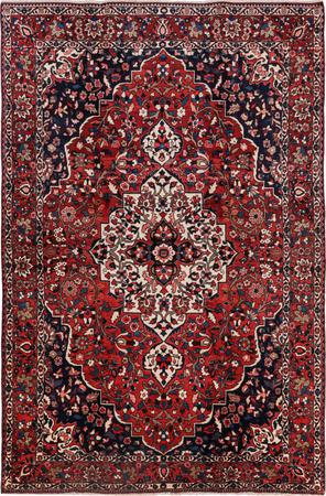 """Hand Knotted Iran Bakhtiari 6'10"""" x 10'4"""" Red Rug"""