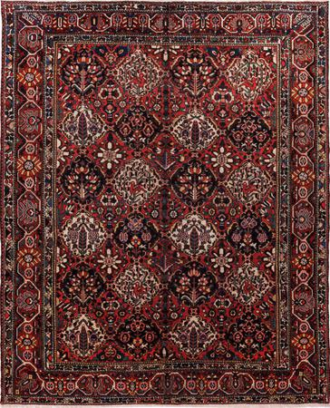"""Hand Knotted Iran Bakhtiari 10'4"""" x 13' Red DK Rug"""