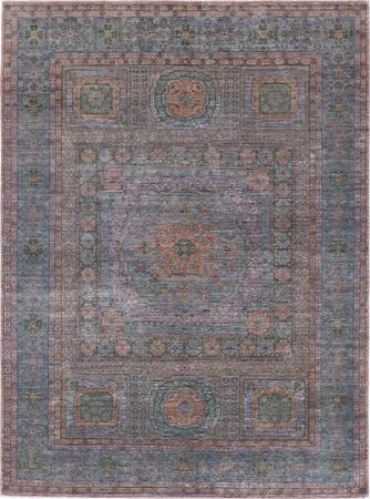 "Hand Made Pakistan Mamluk 6'10"" x 9'4"" Blue LT Rug"