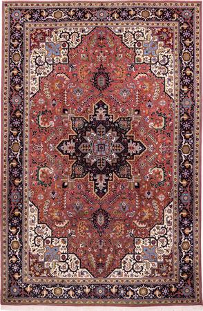 "Hand Knotted Iran Tabriz 6'6"" x 9'10"" Red LT Rug"