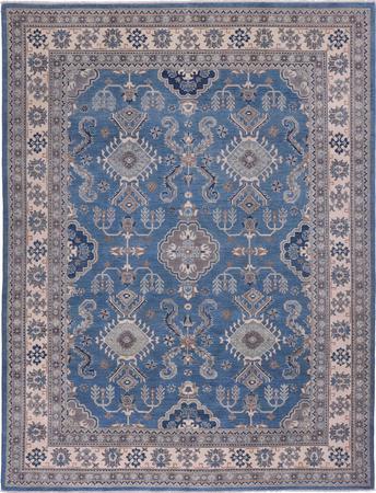 "Hand Made Afghanistan Oushak 9' x 11'6"" Blue Rug"