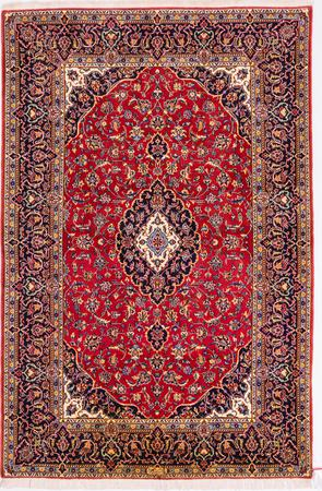 """Hand Knotted Iran Kashan 4'7"""" x 8'10"""" Rust Rug"""