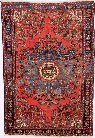 """Hand Knotted Iran Malayer 4'6"""" x 6'7"""" Rust Rug"""