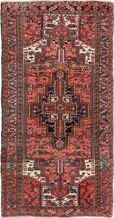 Hand Made Iran Heriz 5' x 10' Ivory Rug