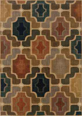 Oriental Weavers Kasbah 3838B Brown